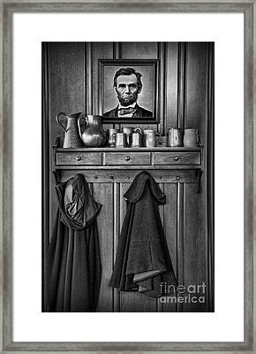 Mary Todd Lincoln's Coat Rack Framed Print