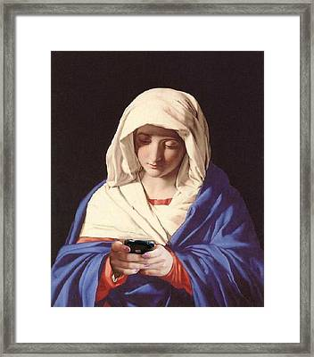 Mary Updates Her Status From In A Relationship To Its Complicated Framed Print by Ross Van Gogh