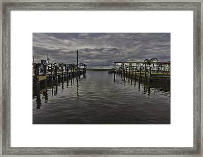Mary Walker Marina - Stormy Skies Framed Print
