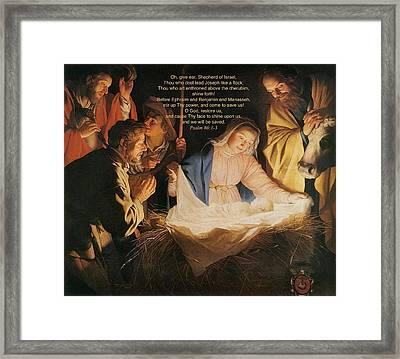 Mary With Child Framed Print