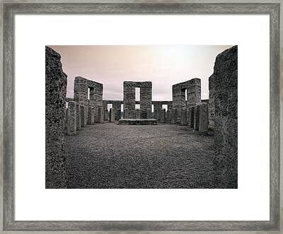 Maryhill Stonehenge Framed Print by Leland D Howard
