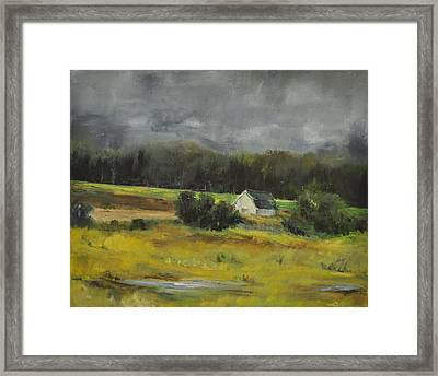Framed Print featuring the painting Maryland Barn by Lindsay Frost