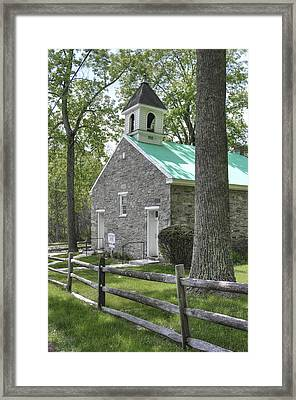 Maryland Country Churches - Eylers Valley Chapel - Built 1857 - Frederick County Maryland Framed Print by Michael Mazaika