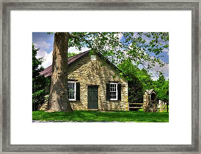 Maryland Country Churches - Fairview Chapel-1a Spring - Established 1847 Near New Market Maryland Framed Print by Michael Mazaika
