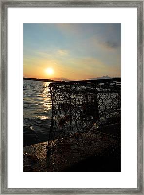Maryland Crabber's Horizon Framed Print