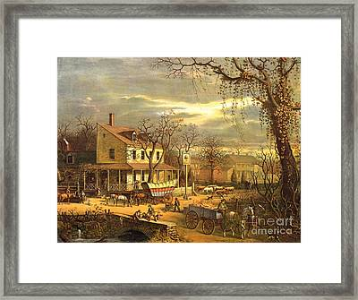 Maryland Crossroads Inn 1872 Framed Print by Padre Art