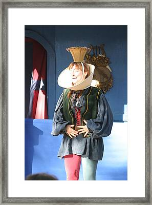 Maryland Renaissance Festival - A Fool Named O - 121211 Framed Print by DC Photographer