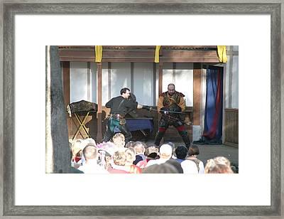 Maryland Renaissance Festival - Hack And Slash - 12128 Framed Print by DC Photographer