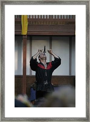 Maryland Renaissance Festival - Johnny Fox Sword Swallower - 1212109 Framed Print