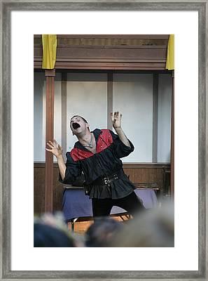 Maryland Renaissance Festival - Johnny Fox Sword Swallower - 1212114 Framed Print by DC Photographer