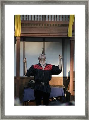 Maryland Renaissance Festival - Johnny Fox Sword Swallower - 1212116 Framed Print