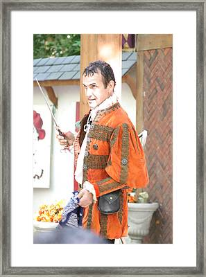 Maryland Renaissance Festival - Johnny Fox Sword Swallower - 121212 Framed Print