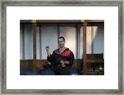 Maryland Renaissance Festival - Johnny Fox Sword Swallower - 1212121 Framed Print by DC Photographer