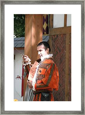 Maryland Renaissance Festival - Johnny Fox Sword Swallower - 121214 Framed Print by DC Photographer