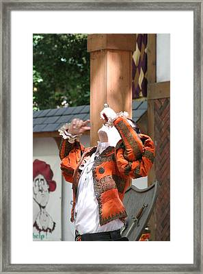 Maryland Renaissance Festival - Johnny Fox Sword Swallower - 121215 Framed Print