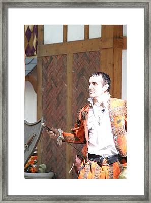 Maryland Renaissance Festival - Johnny Fox Sword Swallower - 121218 Framed Print by DC Photographer