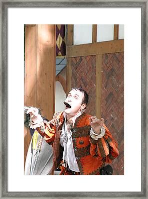 Maryland Renaissance Festival - Johnny Fox Sword Swallower - 121220 Framed Print by DC Photographer
