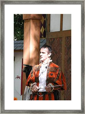Maryland Renaissance Festival - Johnny Fox Sword Swallower - 121228 Framed Print by DC Photographer