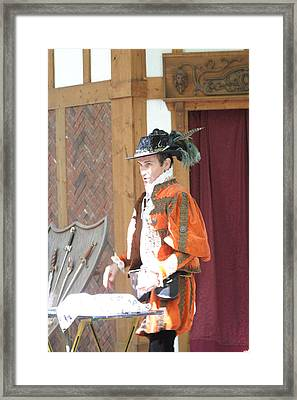 Maryland Renaissance Festival - Johnny Fox Sword Swallower - 12123 Framed Print