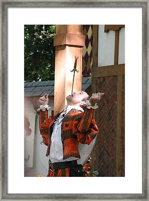 Maryland Renaissance Festival - Johnny Fox Sword Swallower - 121232 Framed Print