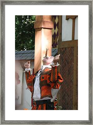 Maryland Renaissance Festival - Johnny Fox Sword Swallower - 121233 Framed Print by DC Photographer