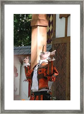 Maryland Renaissance Festival - Johnny Fox Sword Swallower - 121234 Framed Print