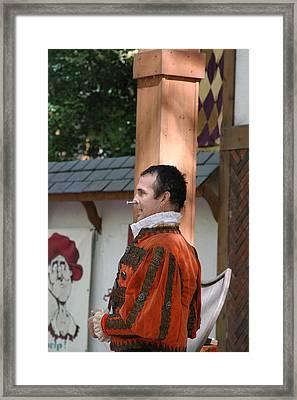 Maryland Renaissance Festival - Johnny Fox Sword Swallower - 121238 Framed Print by DC Photographer