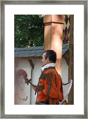 Maryland Renaissance Festival - Johnny Fox Sword Swallower - 121239 Framed Print by DC Photographer