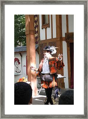 Maryland Renaissance Festival - Johnny Fox Sword Swallower - 12124 Framed Print