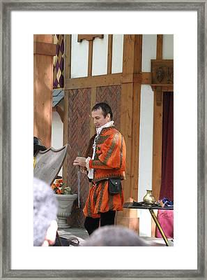 Maryland Renaissance Festival - Johnny Fox Sword Swallower - 121241 Framed Print
