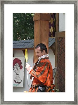 Maryland Renaissance Festival - Johnny Fox Sword Swallower - 121242 Framed Print by DC Photographer