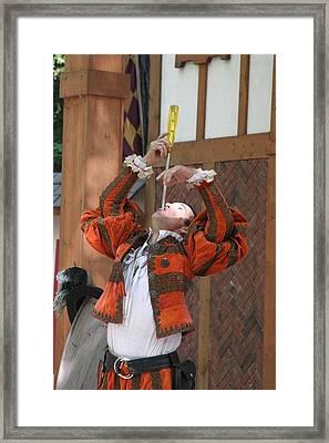 Maryland Renaissance Festival - Johnny Fox Sword Swallower - 121243 Framed Print by DC Photographer