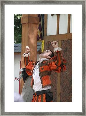 Maryland Renaissance Festival - Johnny Fox Sword Swallower - 121247 Framed Print