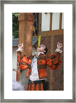 Maryland Renaissance Festival - Johnny Fox Sword Swallower - 121248 Framed Print
