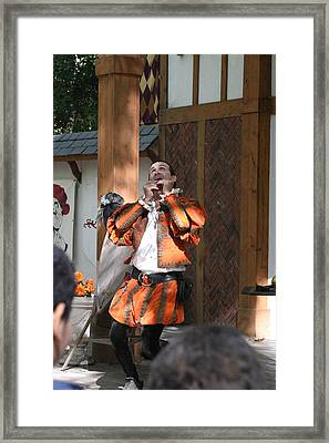 Maryland Renaissance Festival - Johnny Fox Sword Swallower - 121254 Framed Print by DC Photographer