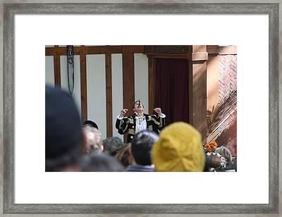 Maryland Renaissance Festival - Johnny Fox Sword Swallower - 121258 Framed Print