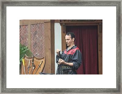 Maryland Renaissance Festival - Johnny Fox Sword Swallower - 121259 Framed Print