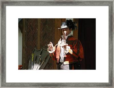 Maryland Renaissance Festival - Johnny Fox Sword Swallower - 12126 Framed Print