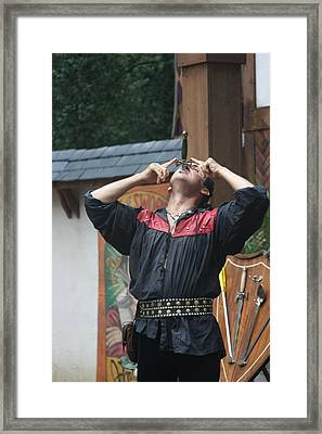 Maryland Renaissance Festival - Johnny Fox Sword Swallower - 121263 Framed Print by DC Photographer