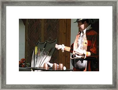 Maryland Renaissance Festival - Johnny Fox Sword Swallower - 12127 Framed Print by DC Photographer
