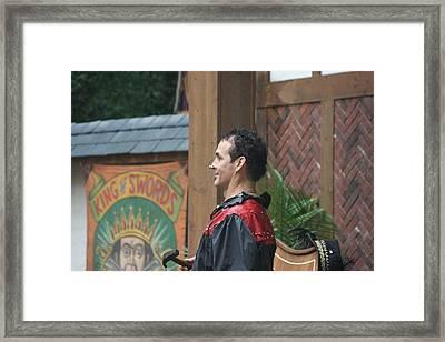Maryland Renaissance Festival - Johnny Fox Sword Swallower - 121271 Framed Print by DC Photographer