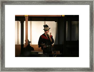 Maryland Renaissance Festival - Johnny Fox Sword Swallower - 121278 Framed Print by DC Photographer
