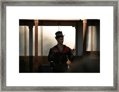 Maryland Renaissance Festival - Johnny Fox Sword Swallower - 121280 Framed Print