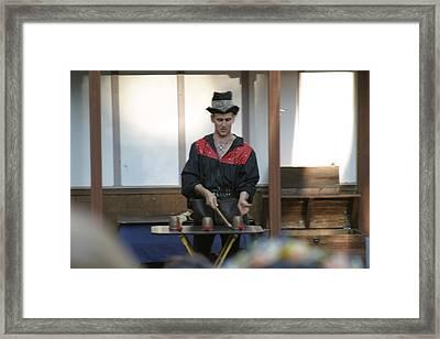 Maryland Renaissance Festival - Johnny Fox Sword Swallower - 121281 Framed Print by DC Photographer
