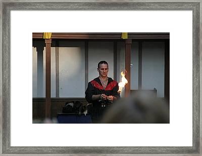 Maryland Renaissance Festival - Johnny Fox Sword Swallower - 121283 Framed Print