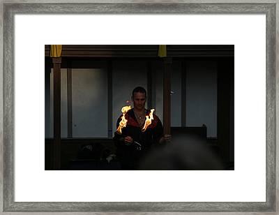 Maryland Renaissance Festival - Johnny Fox Sword Swallower - 121284 Framed Print