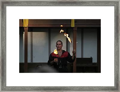 Maryland Renaissance Festival - Johnny Fox Sword Swallower - 121285 Framed Print