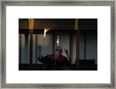 Maryland Renaissance Festival - Johnny Fox Sword Swallower - 121288 Framed Print