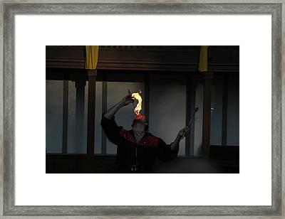 Maryland Renaissance Festival - Johnny Fox Sword Swallower - 121289 Framed Print by DC Photographer