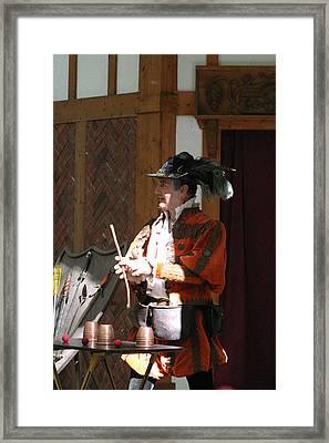 Maryland Renaissance Festival - Johnny Fox Sword Swallower - 12129 Framed Print